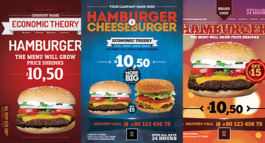 Hamburger Flyer PSD