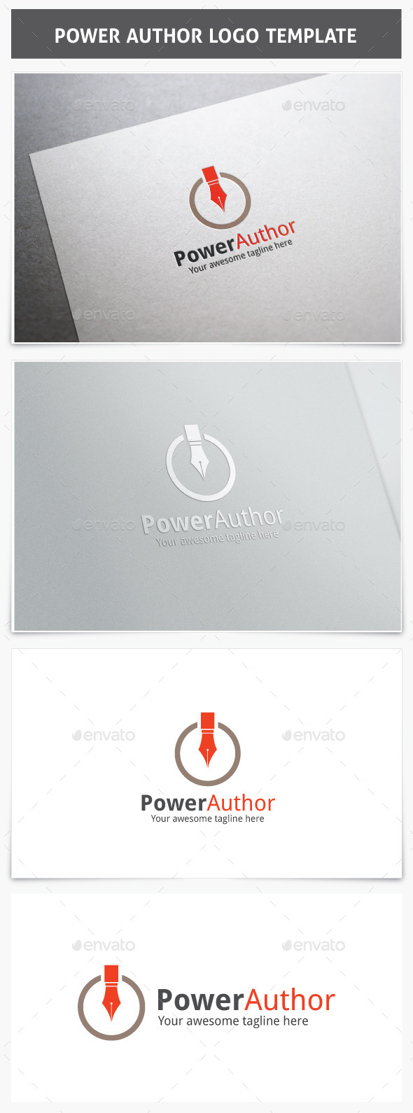 Power Author Logo - Vector Abstract