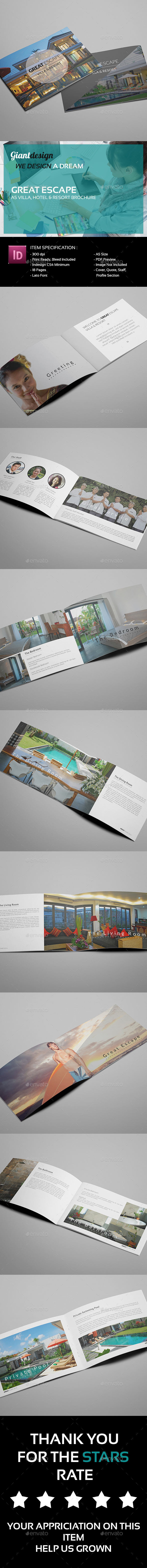 Great Escape - A5 Villa Resort Brochure - Corporate Brochures
