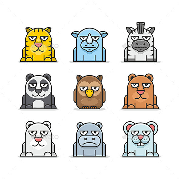 Animals Set - Animals Characters