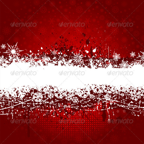 Grunge Snowflake Background - Christmas Seasons/Holidays