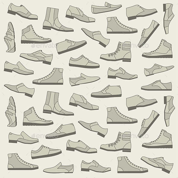 Shoes Seamless Pattern - Vectors