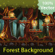 Tillable Background Night Forest