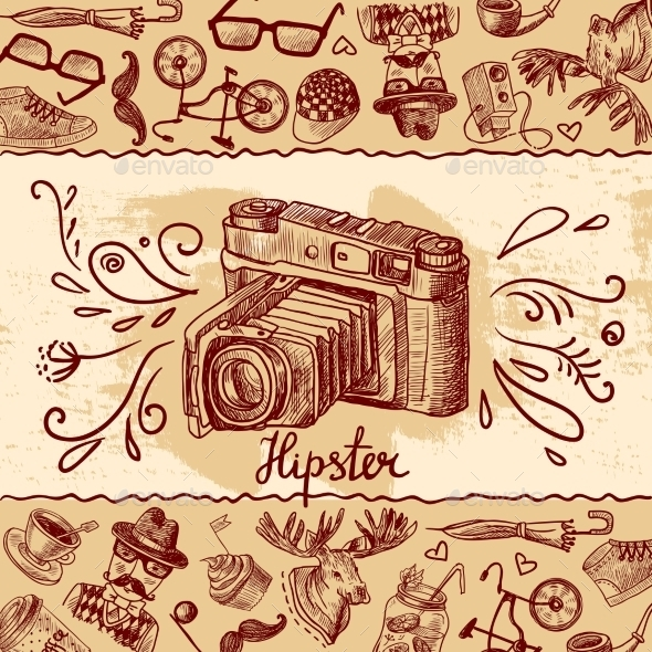 Hipster Camera Background - Abstract Conceptual