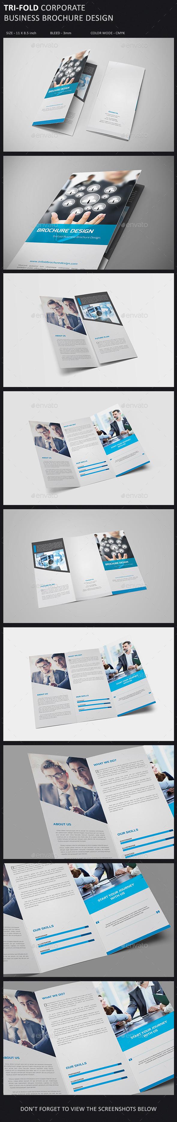 Tri-Fold Brochure Template - Corporate Brochures