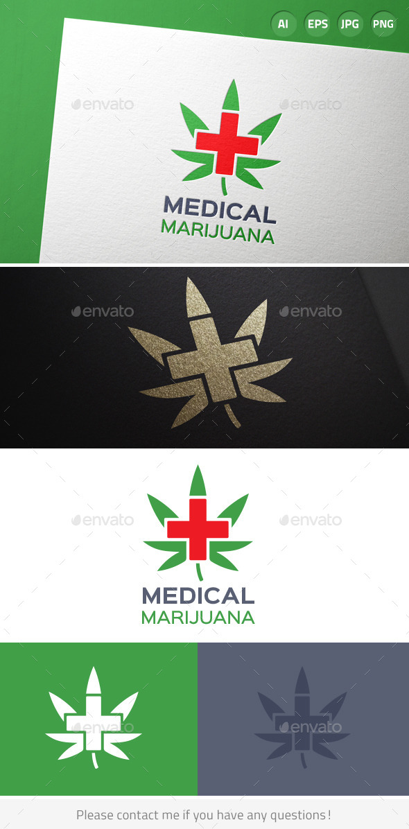 Medical Marijuana Cannabis Logo - Symbols Logo Templates