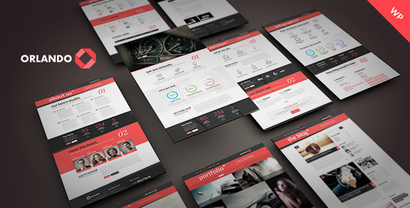 Orlando – Creative Infographics WordPress Theme