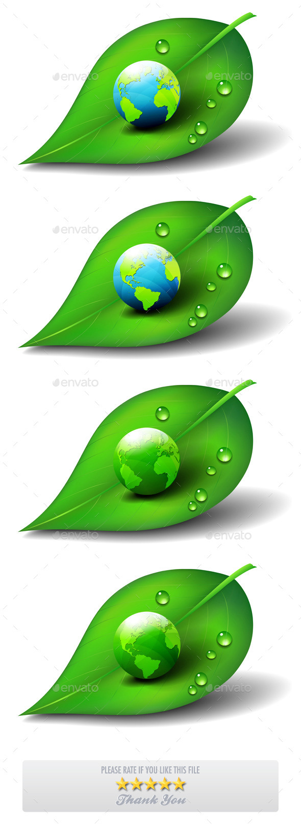 Earth on Leaf - Nature Conceptual