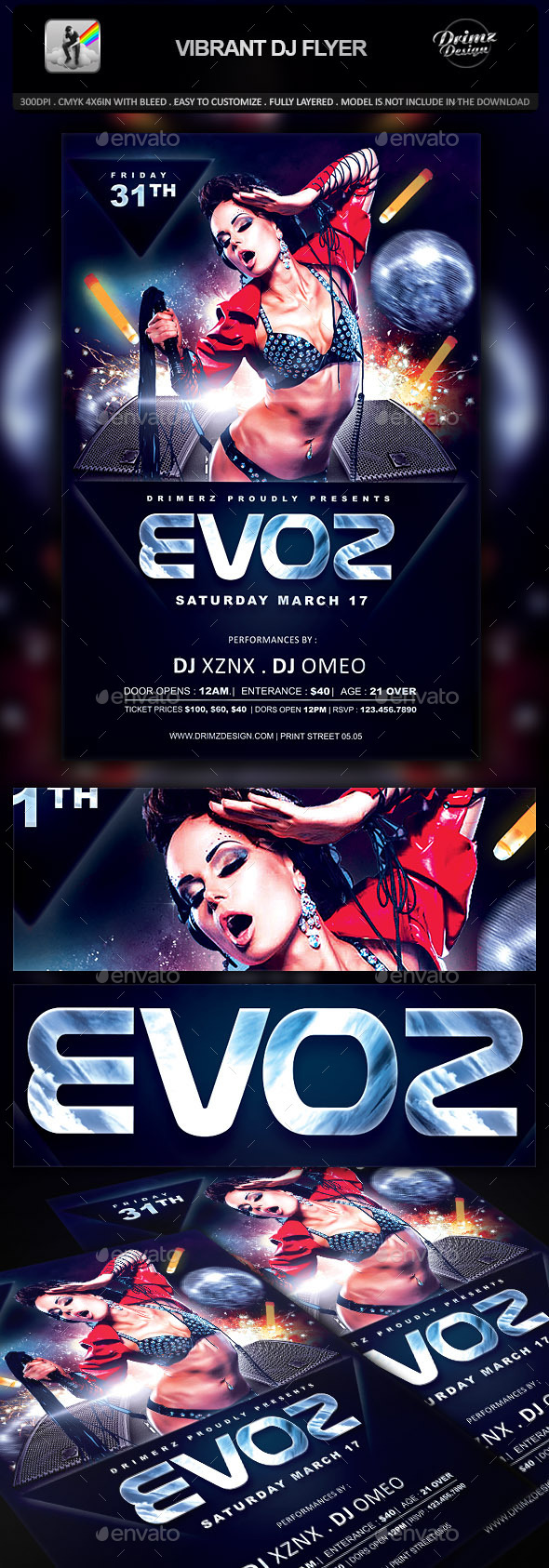 Vibrant DJ Flyer - Events Flyers