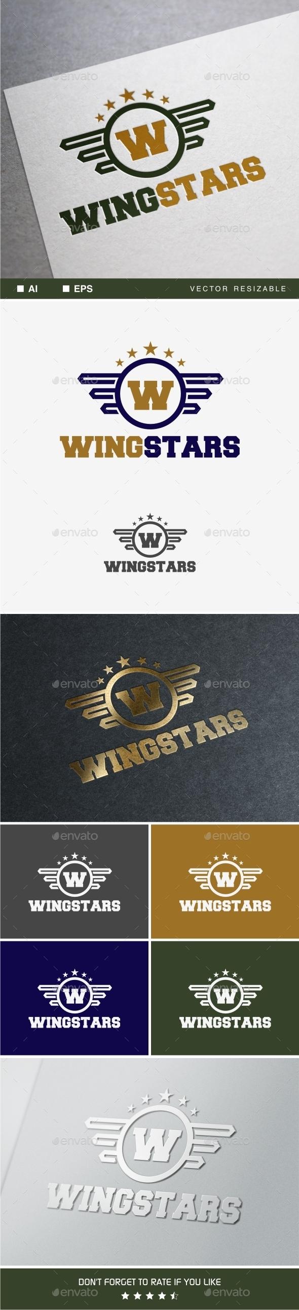 Wingstars Logo - Crests Logo Templates