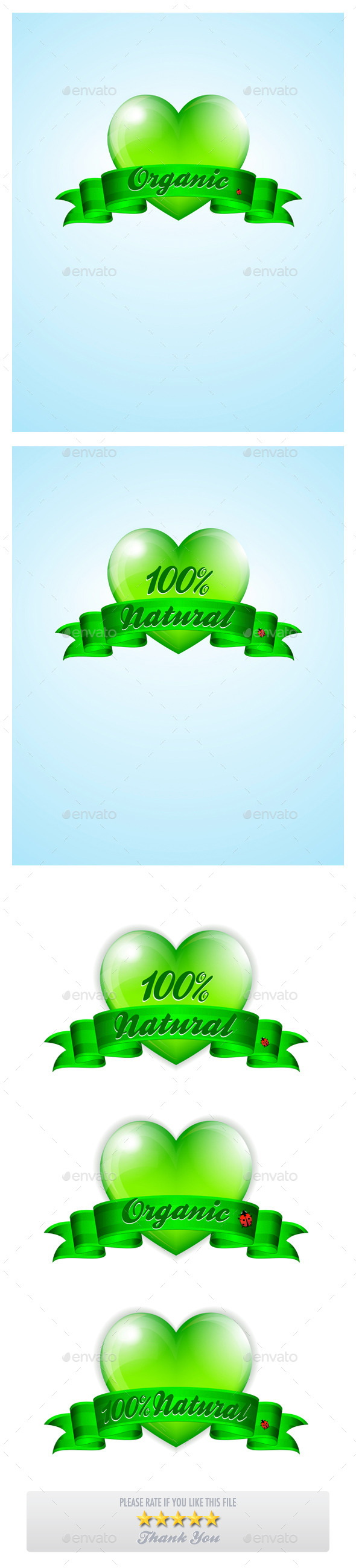 Green Heart Banner Background - Nature Conceptual