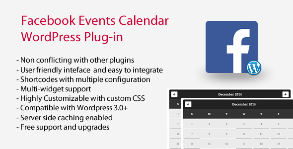 Facebook Events Calendar WordPress Plugin - CodeCanyon Item for Sale