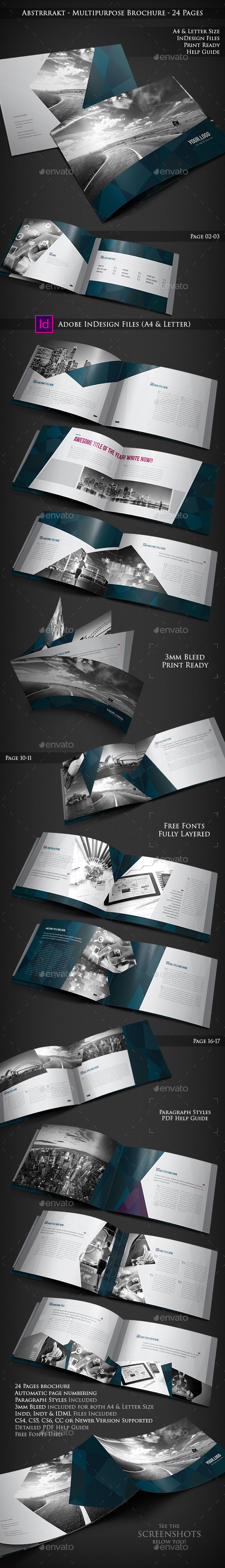 Abstrrrakt - Multipurpose Brochure - 24 Pages - Portfolio Brochures
