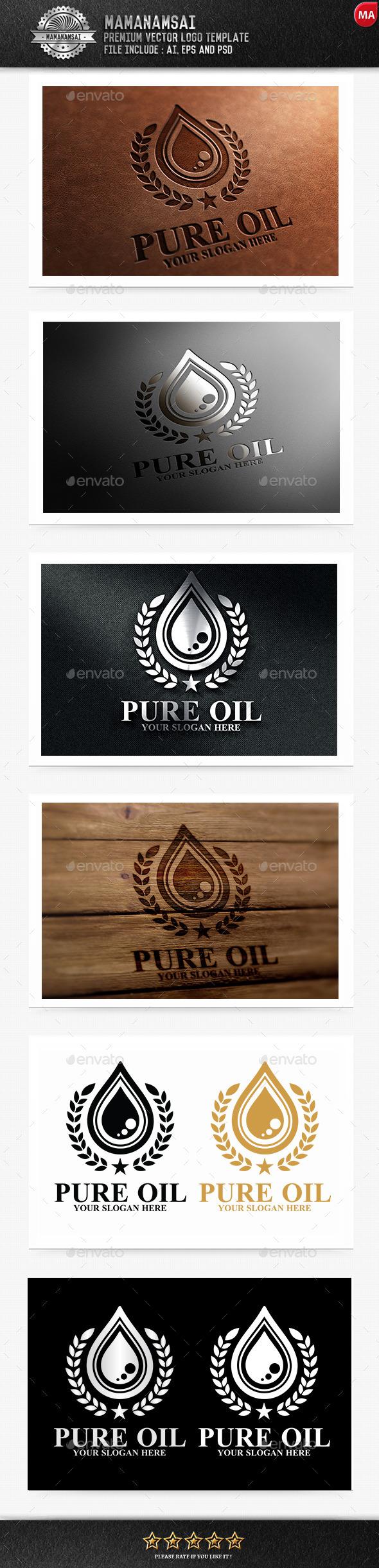 Pure Oil  Logo - Logo Templates