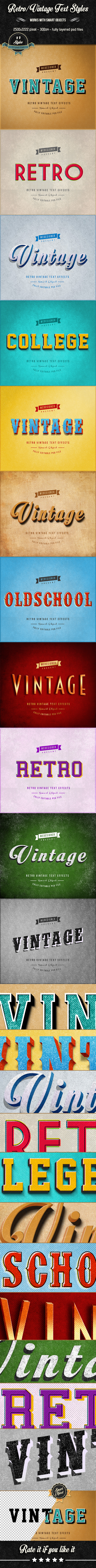 Retro / Vintage Text Effects V.1 - Text Effects Actions