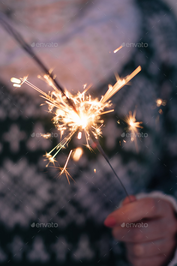 Sparkler - Stock Photo - Images