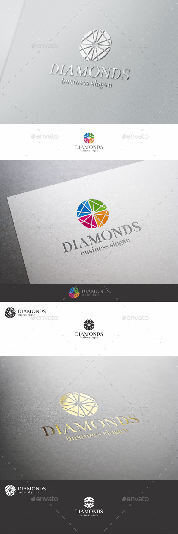 Diamonds Logo Template - Vector Abstract