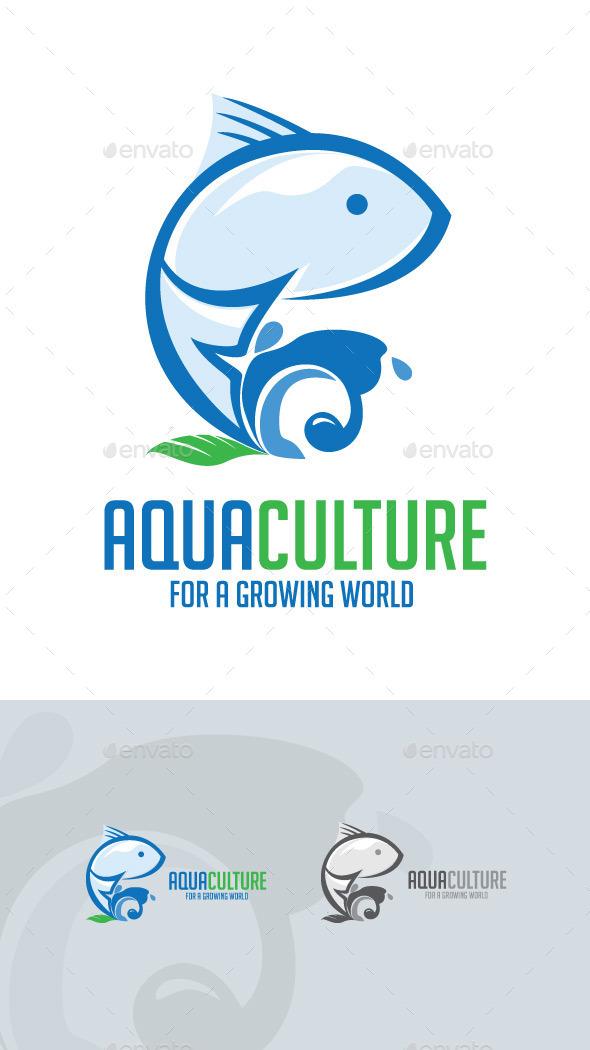 Aqua Culture Logo - Nature Logo Templates