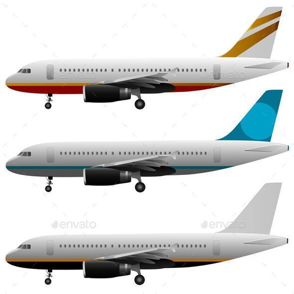 Plane Set - Travel Conceptual