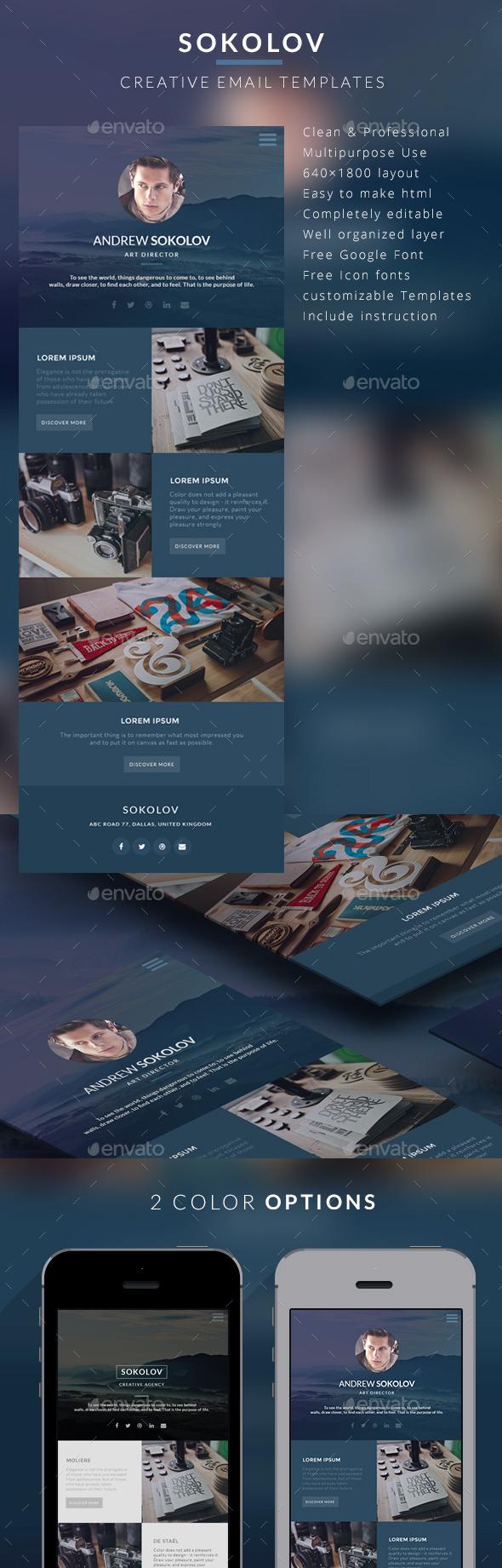 Creative Email Templates - Sokolov - E-newsletters Web Elements