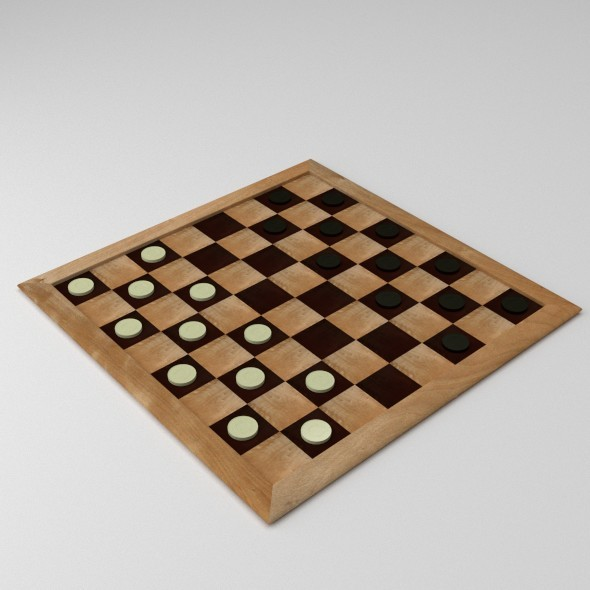 Draughts - 3DOcean Item for Sale