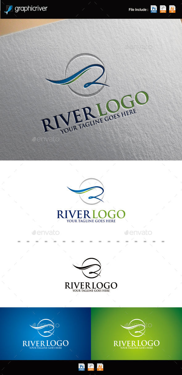 Letter R | River Logo - Letters Logo Templates