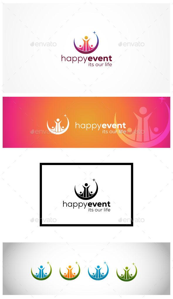 Happy Society - Humans Logo Templates