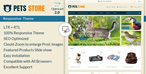 Pet Store – Opencart Responsive Theme