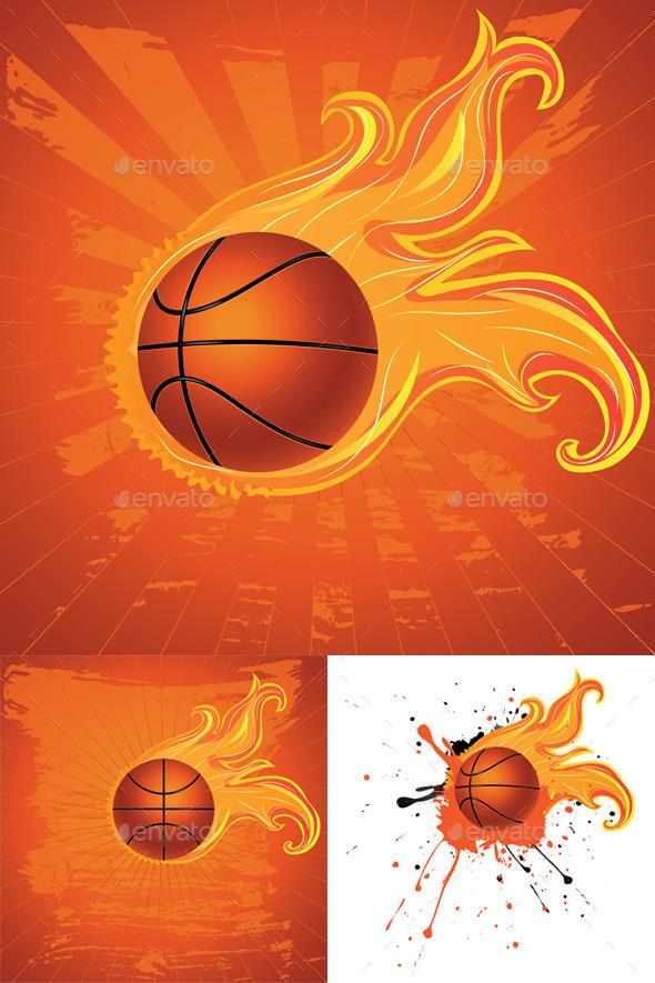 Fire Basketball Ball - Sports/Activity Conceptual