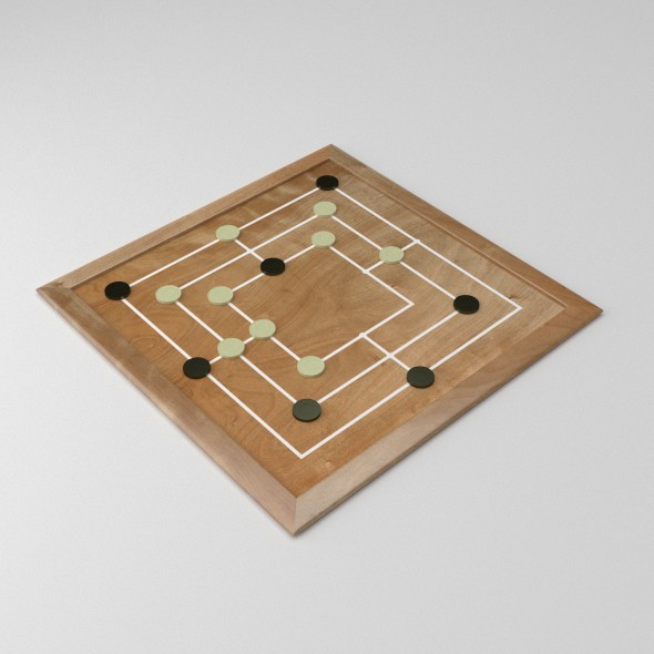 Morris Board Game - 3DOcean Item for Sale