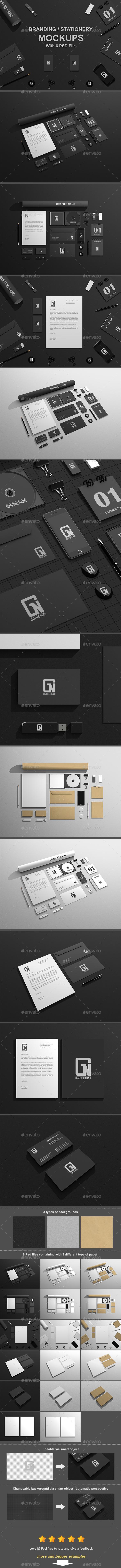 Branding / Stationery Mock-Ups - Stationery Print