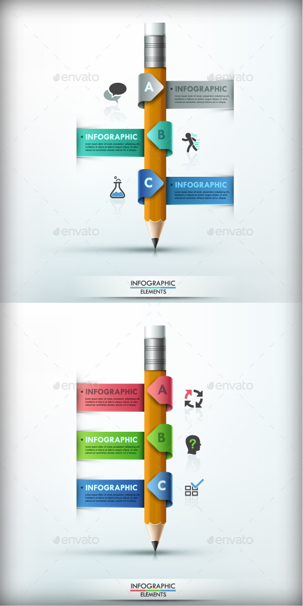 Modern Infographic Options Banner (2 Colors) - Infographics