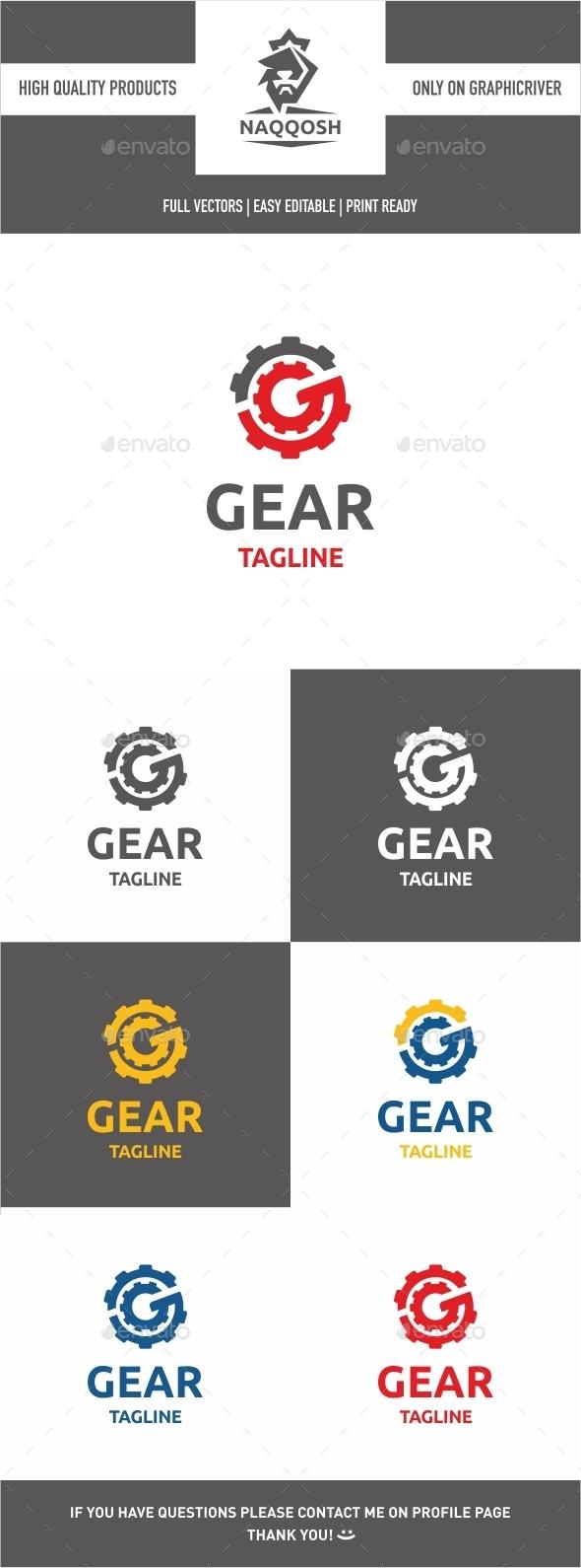Gear Logo - Letters Logo Templates