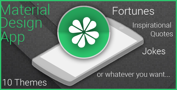 Material App for Fortunes, Quotes or Jokes - CodeCanyon Item for Sale