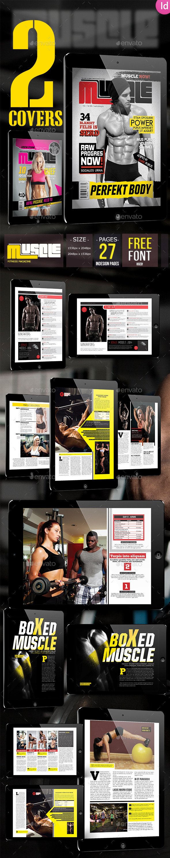 Sport & Fitness Magazine + 2 Covers For Tablet - Digital Magazines ePublishing