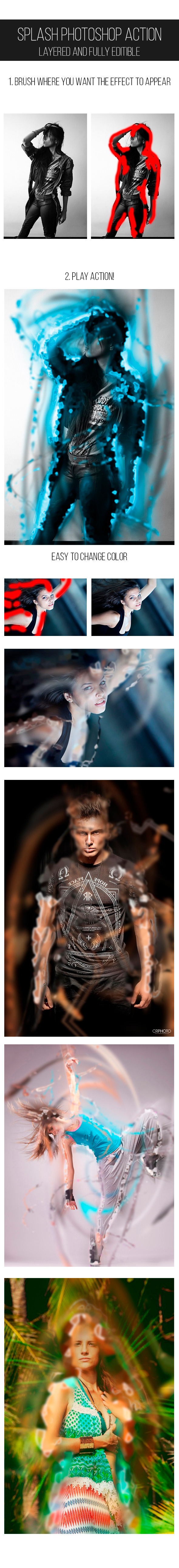 Splash Photoshop Action - Photo Effects Actions