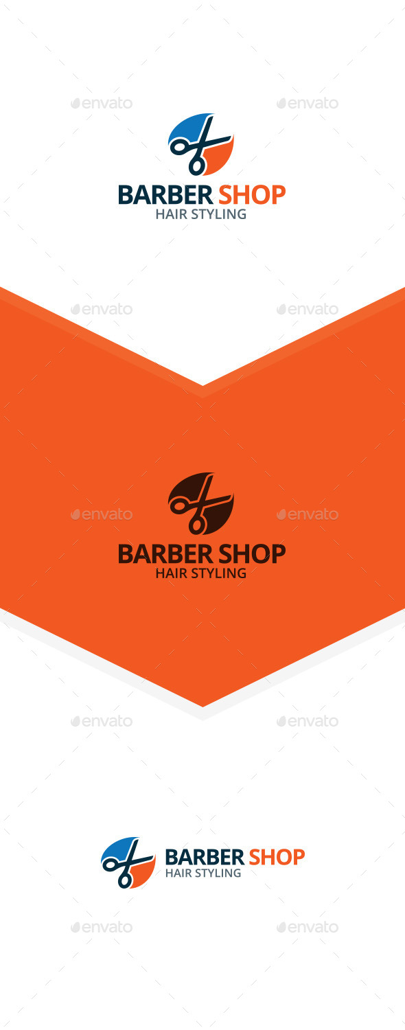 Scissors - Barber Shop Logo - Symbols Logo Templates