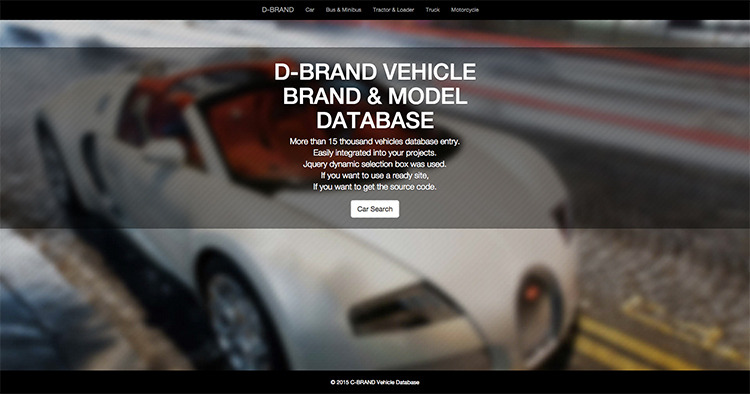 D-Brand Vehicle Database & Site