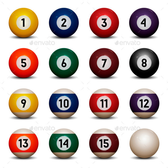 Colored Pool Balls - Sports/Activity Conceptual