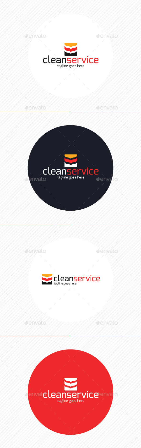 Clean Service Logo - Vector Abstract