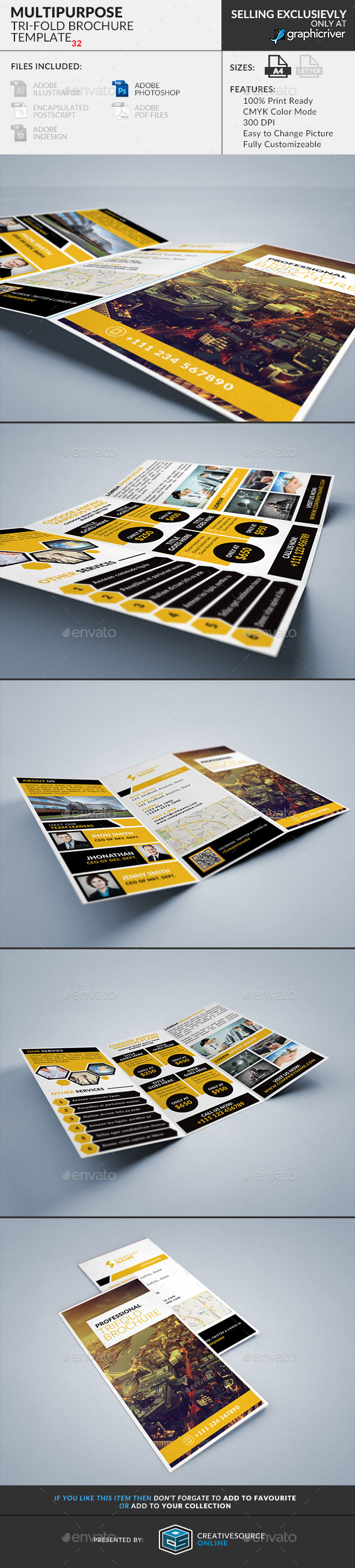 Trifold Brochure 32: Multipurpose - Corporate Brochures