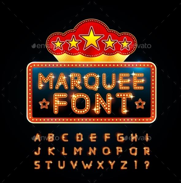 Retro Font - Decorative Symbols Decorative