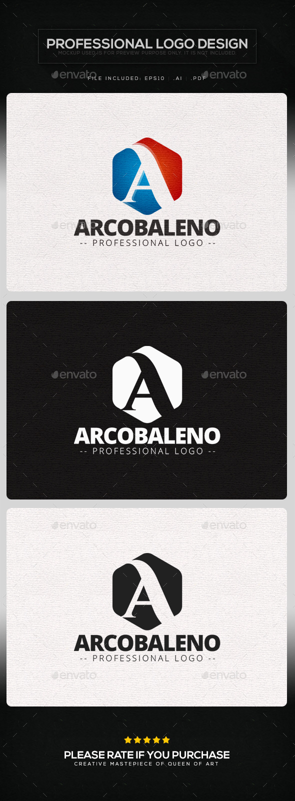 Arcobaleno Logo Template - Letters Logo Templates