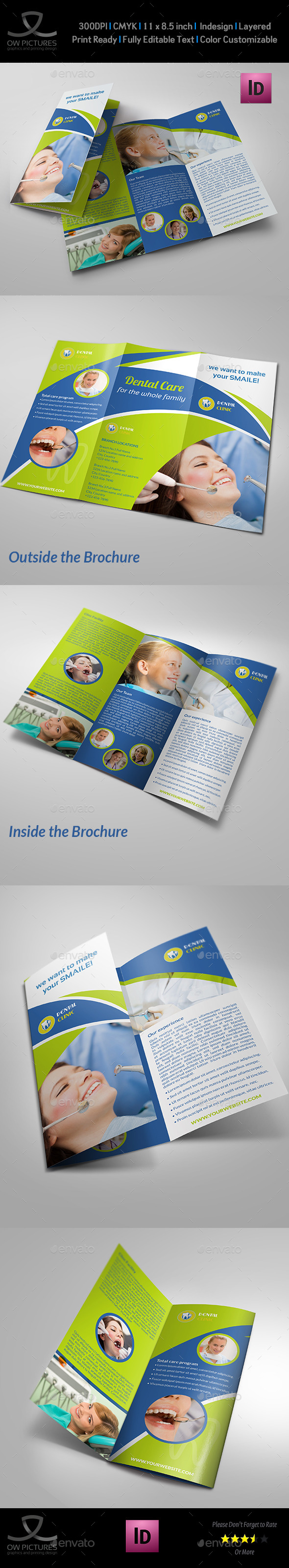 Dental Clinic Tri-Fold Brochure Vol.2 - Informational Brochures