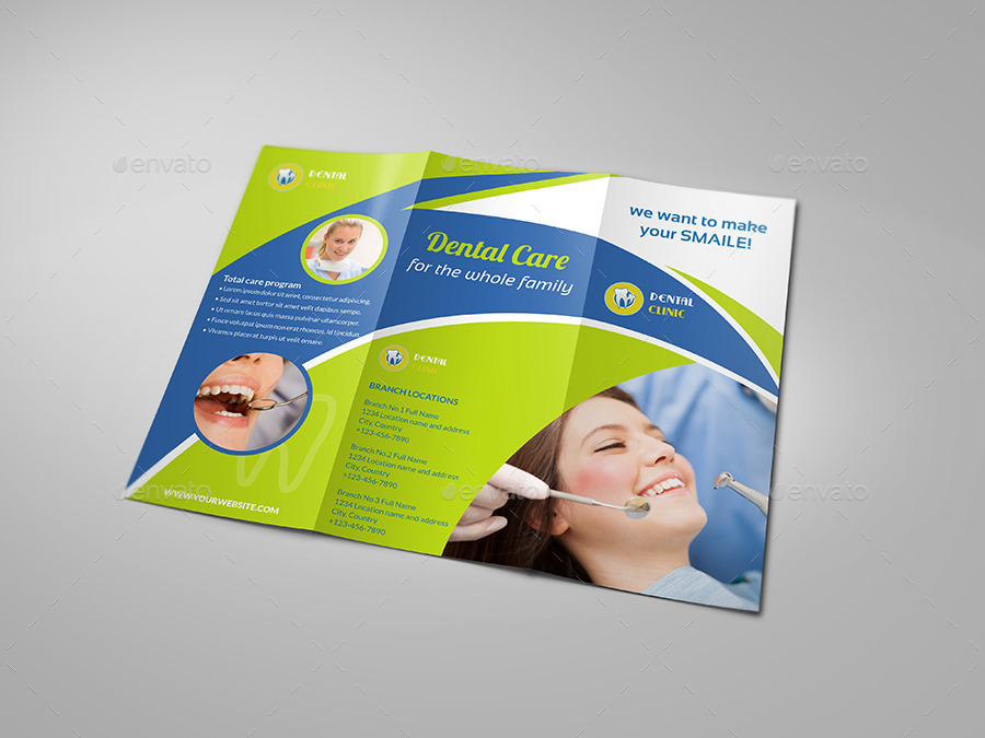 Dental Clinic Tri Fold Brochure Vol2 By Owpictures Graphicriver