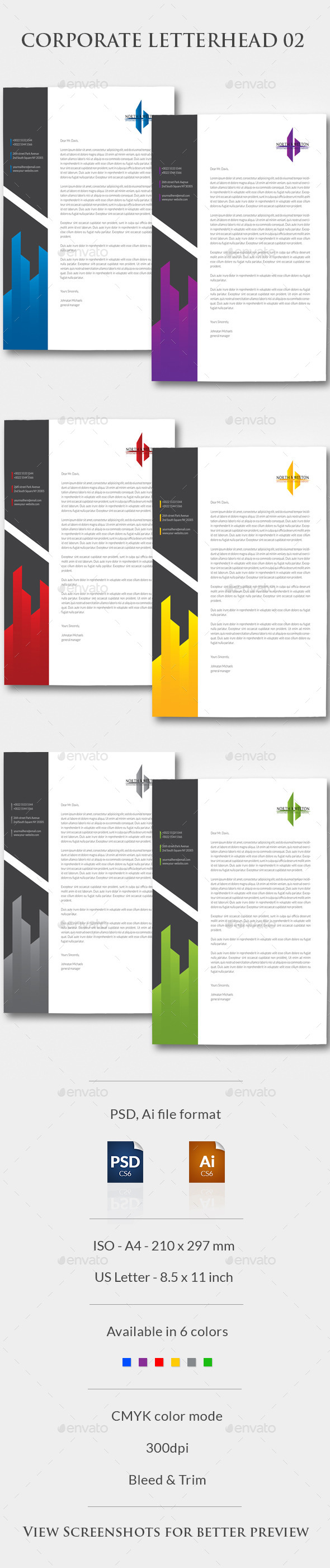 Corporate Letterhead 02 - Stationery Print Templates