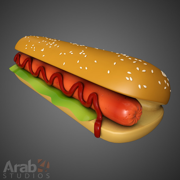 Hotdog Sandwich  - 3DOcean Item for Sale