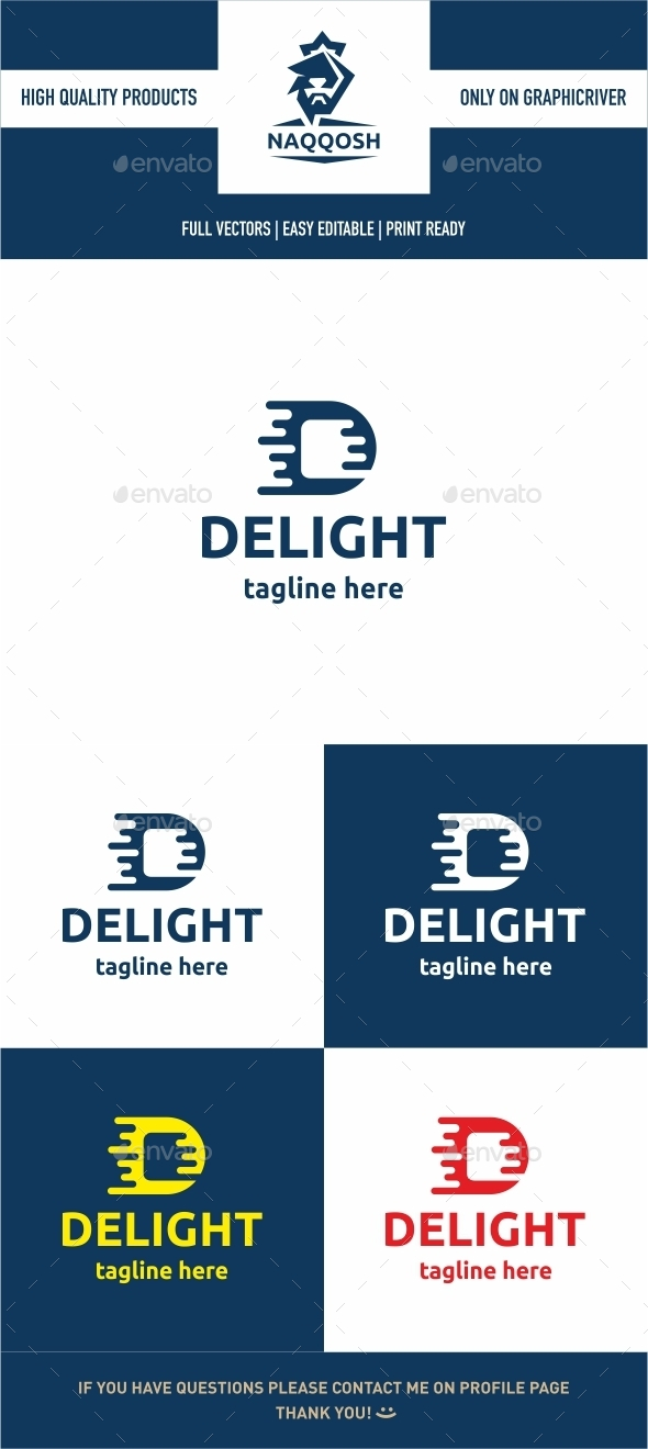 DELIGHT - Letters Logo Templates