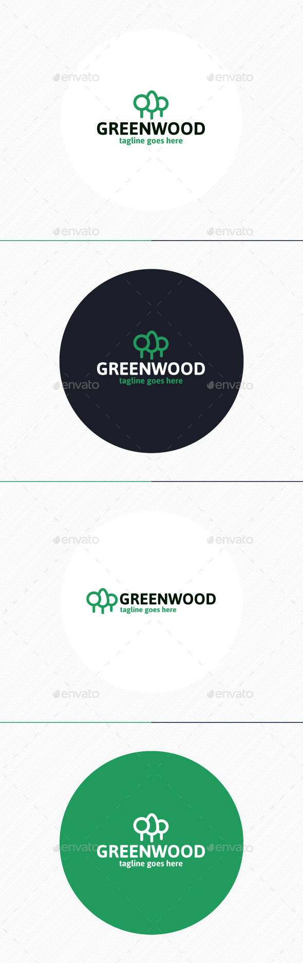 Green Wood Logo - Nature Logo Templates