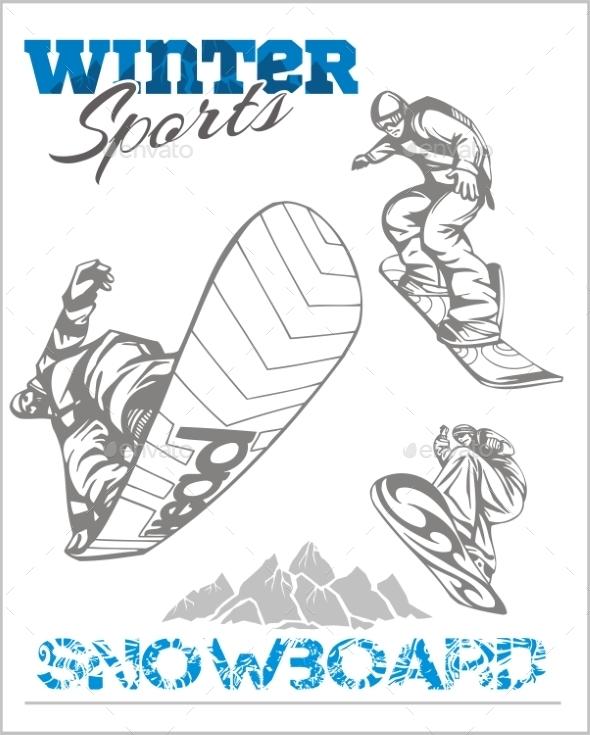 Snowboard Winter Sport - Sports/Activity Conceptual